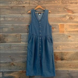 [vintage] denim maxi dress